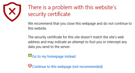 Pas de certificat SSL