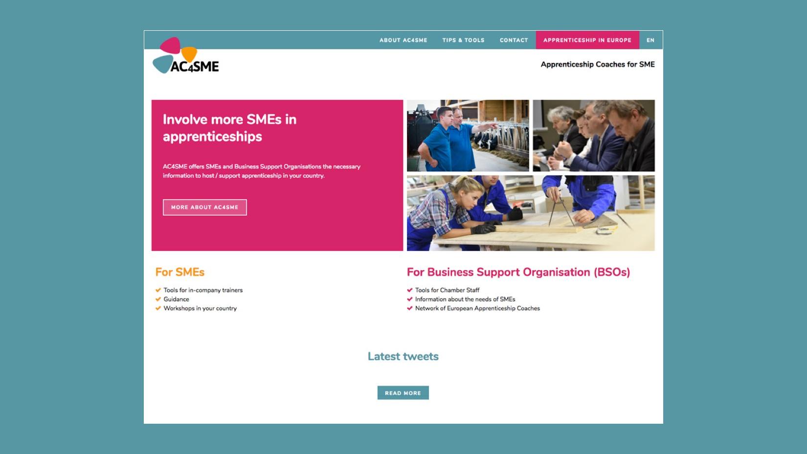 Réalisation d'une plate-forme web claire et efficace pour communiquer les challenges du projet AC4SME