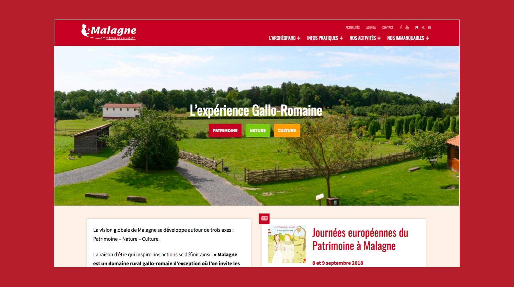 Réalisation d'un nouveau design pour l'archeoparc de Malagne