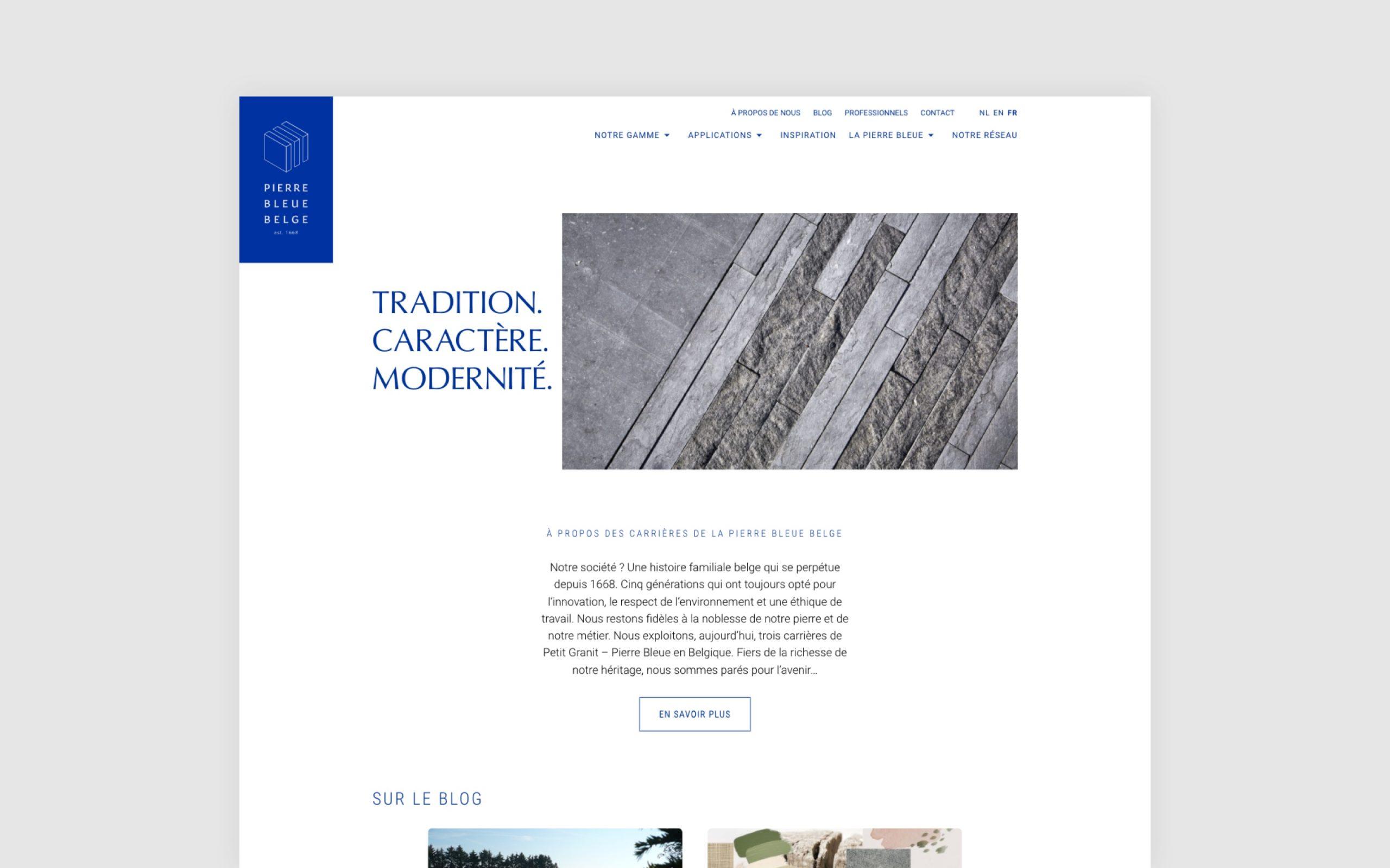 Travail collaboratif avec l'équipe des Carrières de la Pierre Bleue Belge