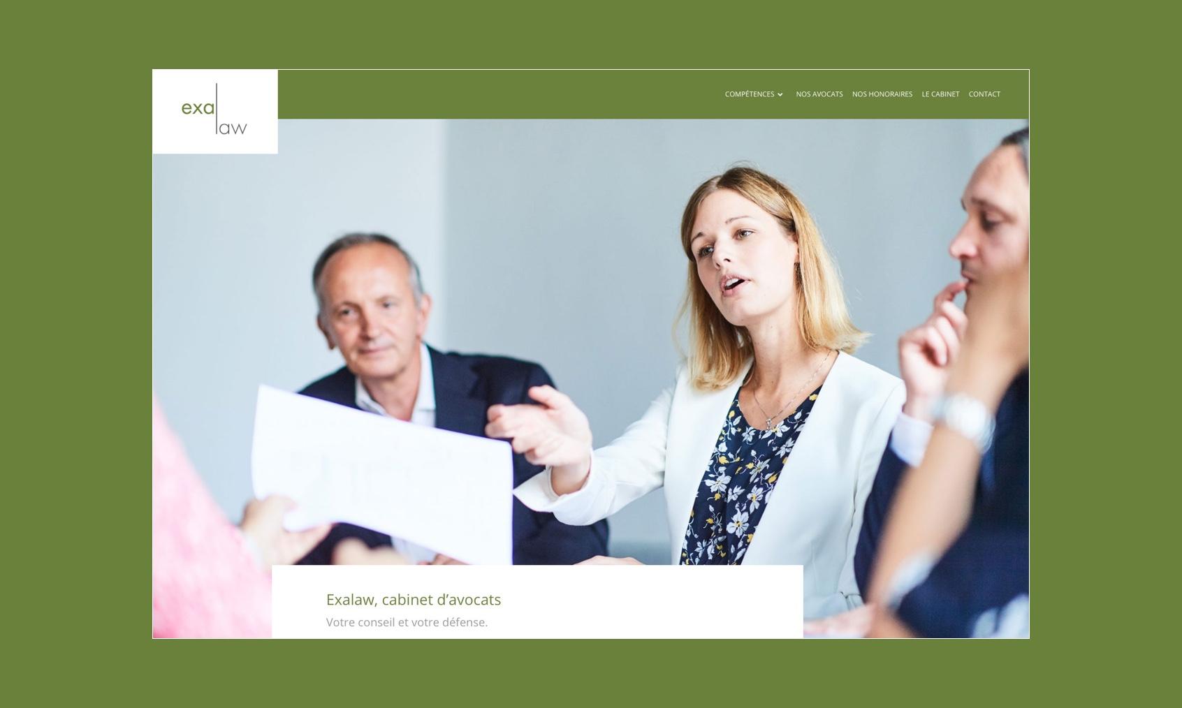 Création de site internet pour un cabinet d'avocats situé à Nivelles