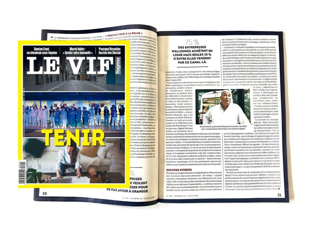 article Le Vif - Alinoa