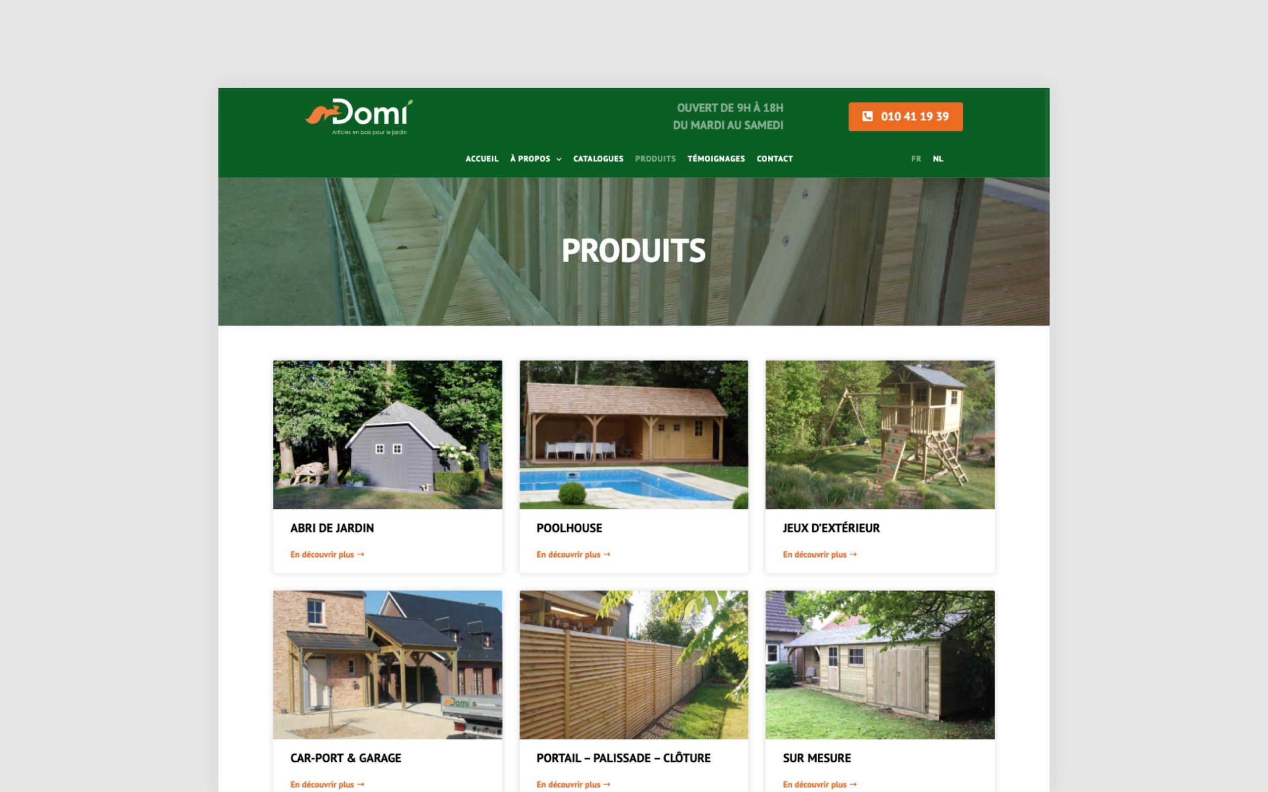 Domi, création site web vitrine